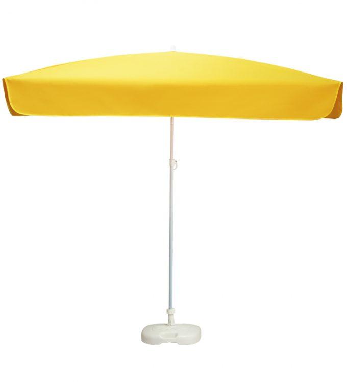 Guarda-sol metálico c/ inclinação e varas U - Amarelo