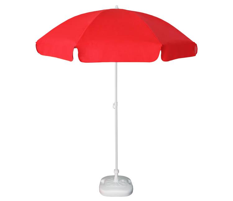 Guarda-sol poli-algodão redondo c/inclinação - 1,80m - Vermelho